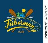 fisher club logo | Shutterstock .eps vector #621340991