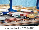 port warehouse with containers... | Shutterstock . vector #62134108