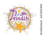 tropical paradise logo | Shutterstock .eps vector #621341465