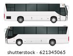 city bus template. passenger... | Shutterstock .eps vector #621345065