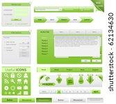 vector website design elements   Shutterstock .eps vector #62134630