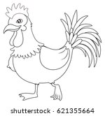 animal outline for rooster... | Shutterstock .eps vector #621355664