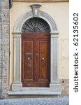 wooden portal. | Shutterstock . vector #62135602