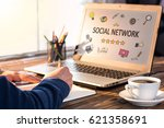 social network concept on work