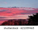 deep pink and blue sunset sky...   Shutterstock . vector #621359465