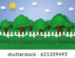 forest landscape   nature... | Shutterstock .eps vector #621359495