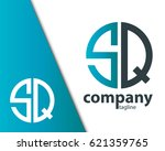 initial letter sq with linked... | Shutterstock .eps vector #621359765