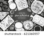pub food frame vector... | Shutterstock .eps vector #621360557
