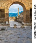 Pompeii  Italy   View Of The...