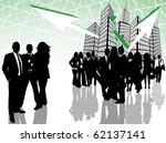 illustration of business people ... | Shutterstock .eps vector #62137141
