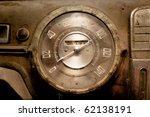 Old Car Dashboard Speedometer