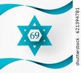 vector illustration of israel... | Shutterstock .eps vector #621394781