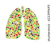 lungs silhouettes with fruit... | Shutterstock .eps vector #621399695