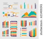 flat infographic elements | Shutterstock .eps vector #621403241