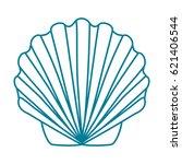 contour shell scallop. template ...   Shutterstock .eps vector #621406544