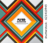 fresh fashion flyer style... | Shutterstock .eps vector #621410945