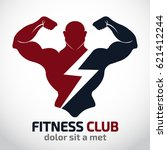 fitness vector logo design... | Shutterstock .eps vector #621412244