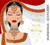 wedding invitation card... | Shutterstock .eps vector #621413885