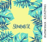 tropical leave background   Shutterstock .eps vector #621429461