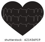 heart beat pulse flat icon for...   Shutterstock .eps vector #621436919