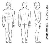 illustration of male figure  ... | Shutterstock . vector #621439151