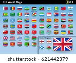 flag icons of the world with... | Shutterstock .eps vector #621442379