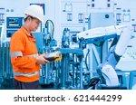 maintenance engineer programing ... | Shutterstock . vector #621444299