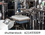 sterile bottles and ampoules on ... | Shutterstock . vector #621455009