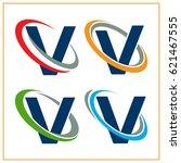 icon logo initials letter v... | Shutterstock .eps vector #621467555