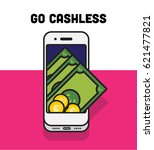 go cashless concept of the... | Shutterstock .eps vector #621477821