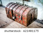 Treasure Chest. Ancient Wooden...