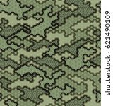 camouflage pattern background... | Shutterstock .eps vector #621490109