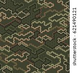 camouflage pattern background... | Shutterstock .eps vector #621490121