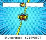 comic book versus fight intro... | Shutterstock .eps vector #621490577