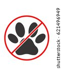 no animals allowed pet... | Shutterstock .eps vector #621496949