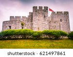 ancient castle palace in isle... | Shutterstock . vector #621497861