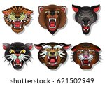 vector animals traditional... | Shutterstock .eps vector #621502949