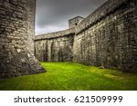 ancient palace in isle of man... | Shutterstock . vector #621509999