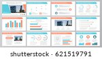 set of orange and blue elements ... | Shutterstock .eps vector #621519791