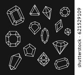 outline gemstones icons ... | Shutterstock .eps vector #621529109