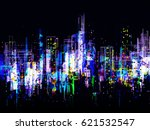 abstract city lights background | Shutterstock . vector #621532547