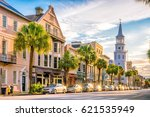historical downtown area of ... | Shutterstock . vector #621535949
