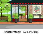cafe  restaurant  coffee shop... | Shutterstock .eps vector #621540101