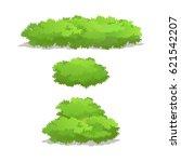set of  bush for forest  park... | Shutterstock .eps vector #621542207