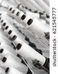 process of rolling plastic...   Shutterstock . vector #621545777