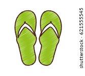 flip flops isolated icon | Shutterstock .eps vector #621555545