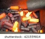 high precision hot forging... | Shutterstock . vector #621559814