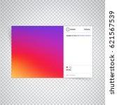 social network photo frame of... | Shutterstock .eps vector #621567539