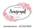 watercolor sale banner... | Shutterstock .eps vector #621567845