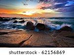 Beautiful Sunset In The Sea....